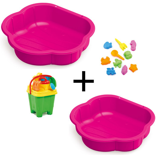 Sand Water Play Pit Bundle Pink