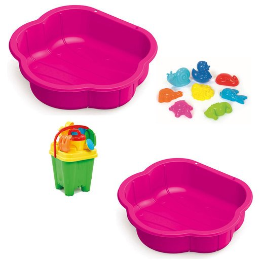 Sand & Water Play Pit Set  With Accessories   Pink