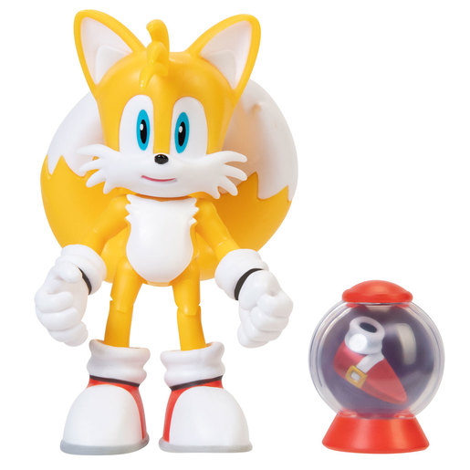 Sonic 10cm Figures - Modern Tails With Fast Shoe Accessory