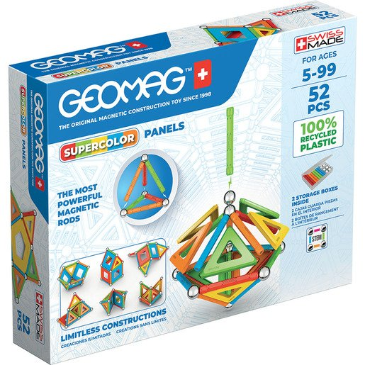 Geomag Super Color Magnetic Construction Set – 52pc