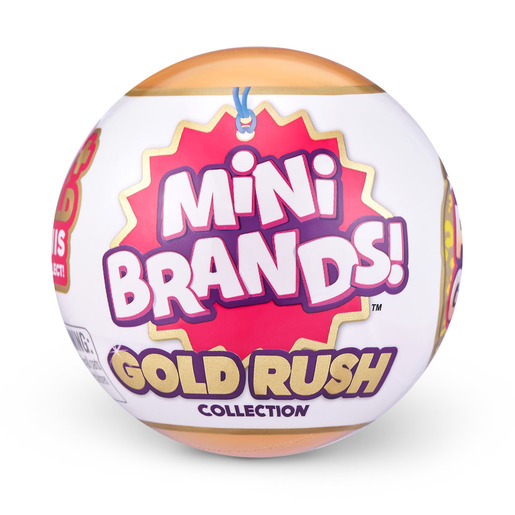 5 Surprise Mini Brands Gold Rush Limited Edition Mystery Capsule by ZURU (Styles Vary)