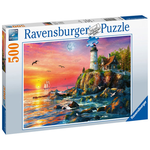 Ravensburger Lighthouse at Sunset 500pc Jigsaw Puzzle