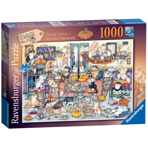 Ravensburger Crazy Cats Autumn Banquet 1000pc Jigsaw Puzzle