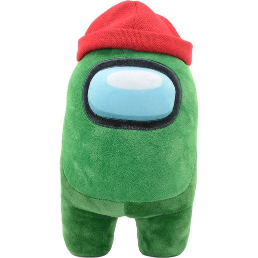 Among Us Official 30cm Green Soft Toy with Beanie
