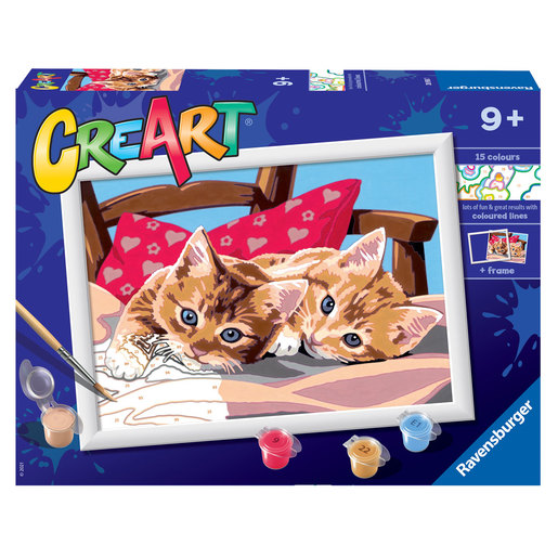 Ravensburger: CreArt Painting By Numbers -  Two Cuddly Cats