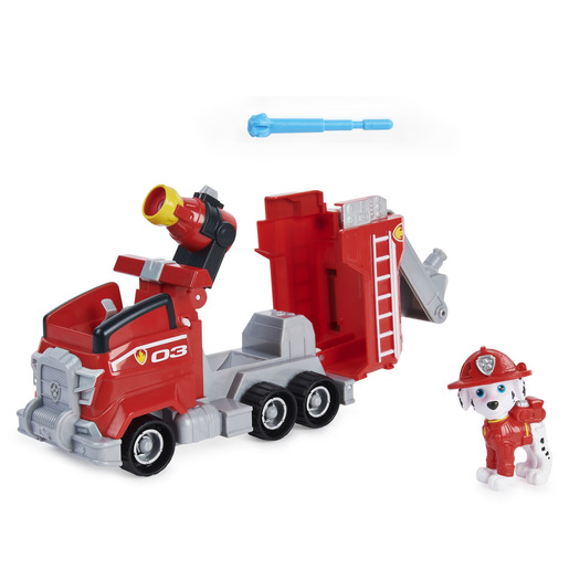 Paw Patrol: The Movie Deluxe Vehicle & Pup Figure - Marshall