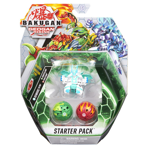 Bakugan: Geogan Rising - 3pk Series 3 Starter Pack Collectible Action Figures and Trading Cards (Styles Vary)