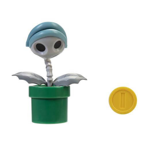 Super Mario 10cm Figure - Bone Piranha Plant with Coin