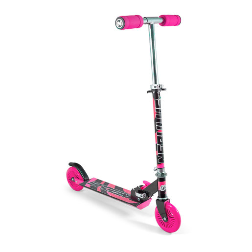 Nebulus Scooter - Black with Pink Chrome Finish