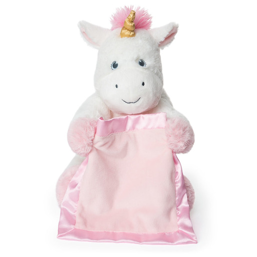Gund Interactive Peek-A-Boo Unicorn Plush & Baby Blanket