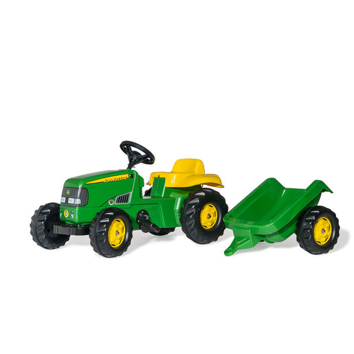 Rolly Kid John Deere Ride-On Tractor & Trailer