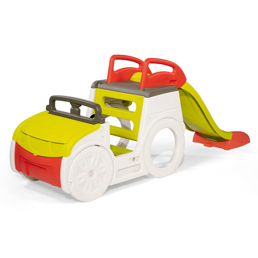 Smoby Adventure Car With Slide & Sandpit L233 x W68 x H91cm