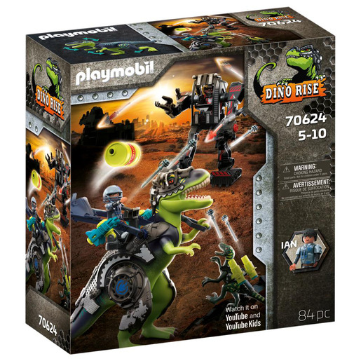 Picture of Playmobil 70624 Dino Rise T-Rex: Battle of the Giants Playset
