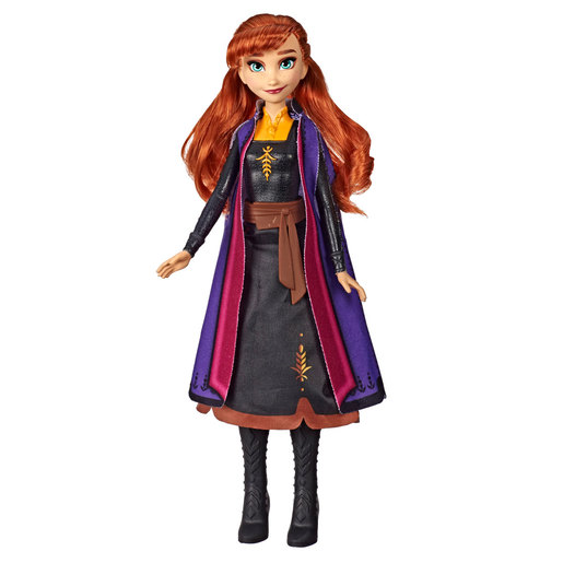 Disney's Frozen 2 Anna Autum Swirling Adventure Light Up Fashion Doll 34cm