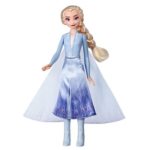 Disney's Frozen 2 Elsa Magical Swirling Adventure Light Up Fashion Doll 34cm