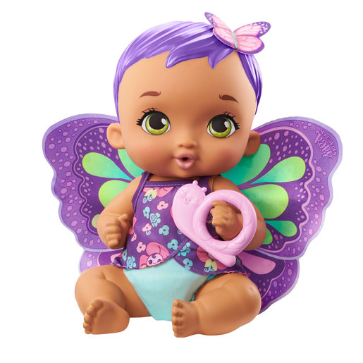 My Garden Baby: Feed & Change Baby Butterfly Doll - Purple