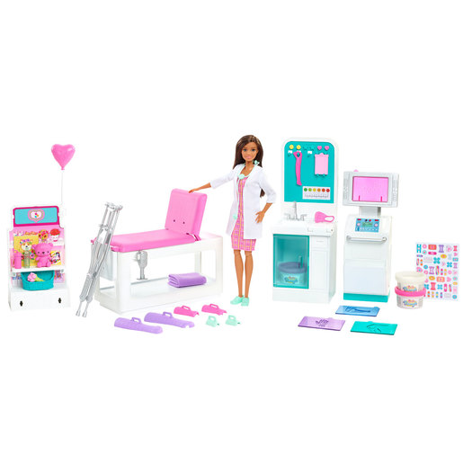 Barbie Fast Cast Clinic Playset and 30cm Doll