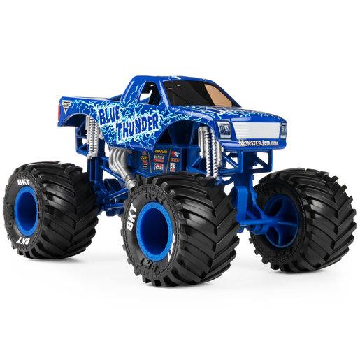 Monster Jam 1:24 True Metal Monster Truck   Blue Thunder