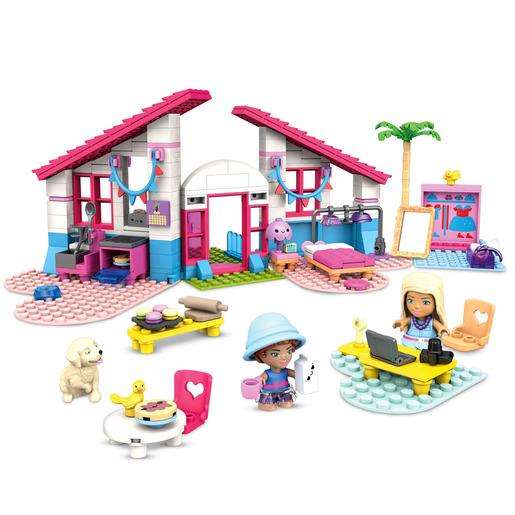 Mega Construx Barbie   Malibu House Building Set
