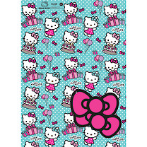 Hello Kitty 2 Wrapping Paper Sheets & 2 Gift Tags Pack