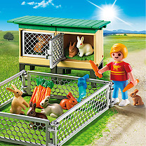 Playmobil - Country Rabbit Pen with Hutch 6140
