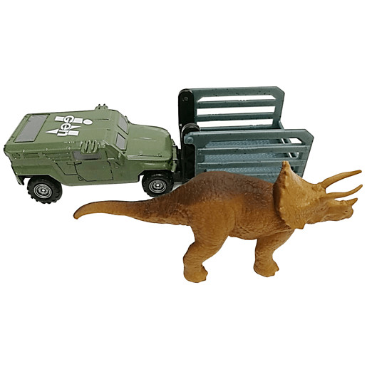 Matchbox Jurassic World Dino Transporter Vehicle and Figure - Tricera - Tracker