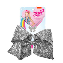 JoJo Siwa 20cm Signature Sequin Bow And Necklace Set - Silver