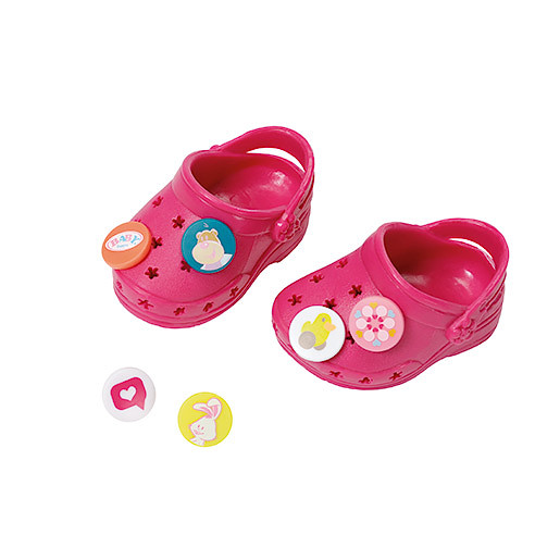 Image of Baby Born Customisable Pin Shoes - Dark Pink