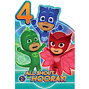 PJ Masks Age 4 Birthday Card
