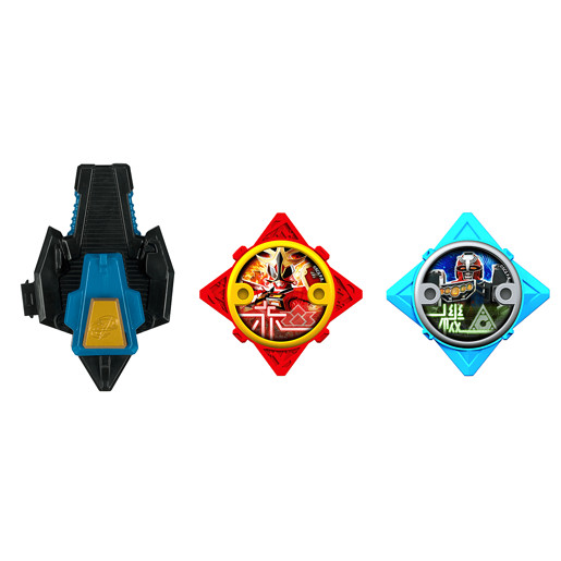Power Ranger Ninja Steel 2 x Stars and Launcher - Red and Blue