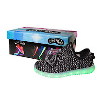 Light and Sole LED Black Shoes - Size 8 Junior