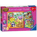 Ravensburger Animal Jam 3 x 49 Piece Puzzles
