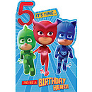 PJ Masks Birthday Card Age 5