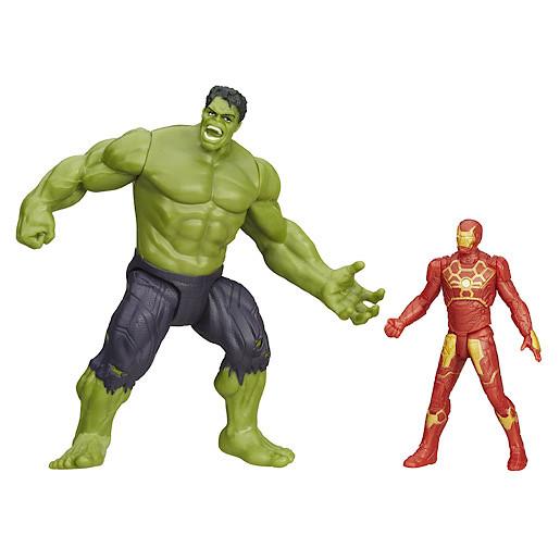 Marvel Avengers Age of Ultron Savage Hulk and Ultron Hunter Iron Man Figures
