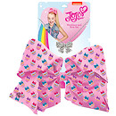 JoJo Siwa 20cm Signature Patterned Bow And Necklace Set -Pink Cupcakes
