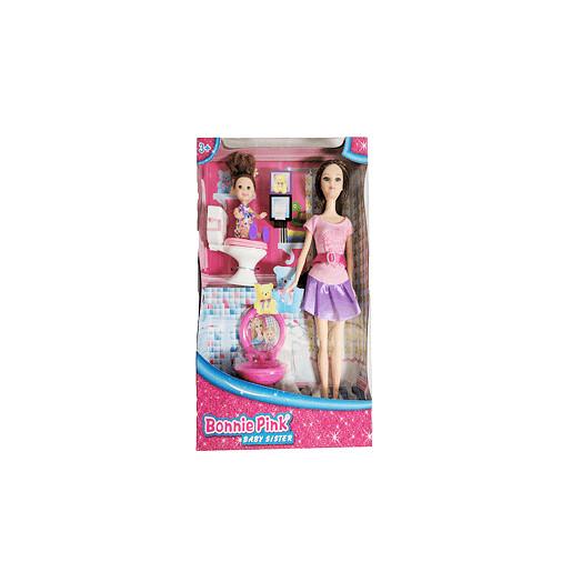 Bonnie Pink Baby Sister Dolls- Brunette