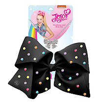 JoJo Siwa 20cm Signature Multi Colored Rhinestone Bow And Necklace Set -Black