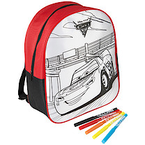Disney Pixar Cars 3 Colour Your Own Backpack