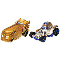 Hot Wheels Star Wars Cars -R2-D2 & C3P0