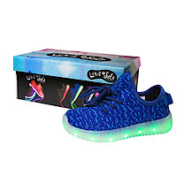 Light and Sole LED Blue Shoes - Size 8 Junior