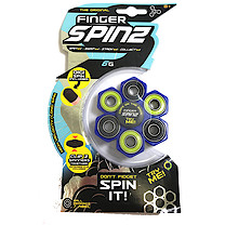 Finger Spinz 6 Bearing Toy with Accessories - Blue