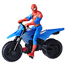 Marvel Spider-Man 15cm Figure - Spider Man with Supercross Cycle