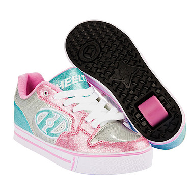 Heelys Silver and Light Pink X2