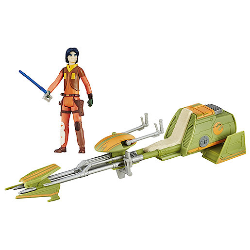 Star Wars Ezra Bridgers Speeder Vehicle with Figure
