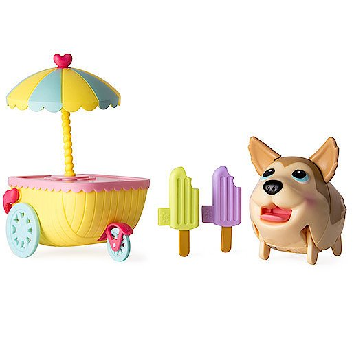Image of Chubby Puppies & Friends Ice Cream Cart with Husky