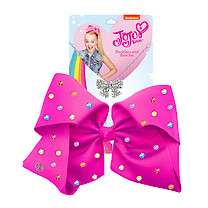 JoJo Siwa 20cm Signature Multi Colored Rhinestone Bow And Necklace Set -Pink