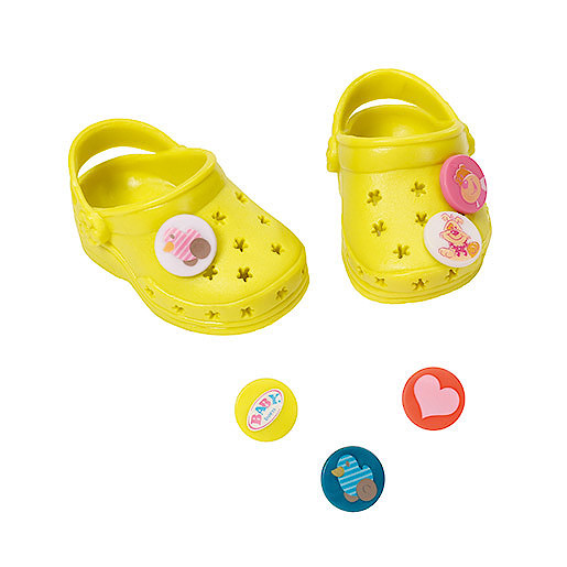 Baby Born Customisable Pin Shoes  Yellow
