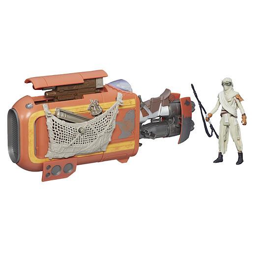 Star Wars The Force Awakens Rey's Speeder With 9cm Rey Figure