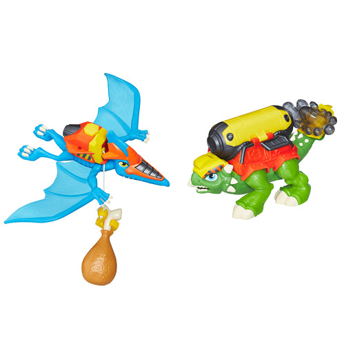 Playskool Heroes Chomp Squad Dino 2 Pack - Constraction Crew & Dinos Constructeurs