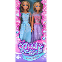 Glimmer and Style Fantasy Collection Dolls - 2 Pack (Colours Vary)